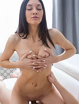 Beautiful Teenage Cutie Riding Big Pecker - Picture 12
