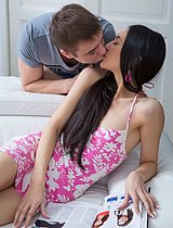 Beautiful Teenage Cutie Riding Big Pecker - Picture 2